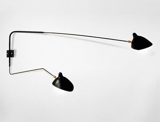 Yasmin Wall Light 2 Arm : Serge Mouille Two-Arm Wall Sconce - Lighting - Modern Classic FurnitureContemporary Designer ...